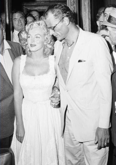 Marilyn Monroe and Arthur Miller leave hospital