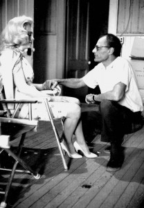 Marilyn and Arthur during filming of The Misfits