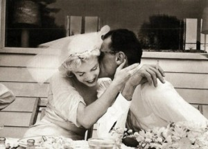 Marilyn Monroe and Arthur Miller's wedding day