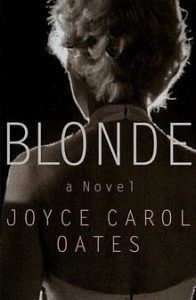 "The original cover for Blonde, stating ""A Novel"" clearly."