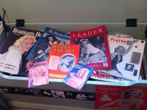 Some of Fraser's rare magazines.
