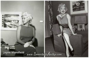Marilyn and Jayne in the same dress.