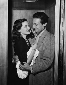 Gene Tierney and Oleg Cassini.