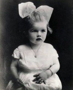 Lucy as a child.