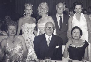 Marilyn and Lucy at Walter Winchell's birthday party.
