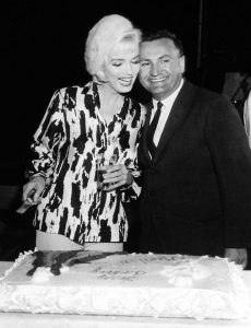 George Barris with Marilyn on her 36th birthday.