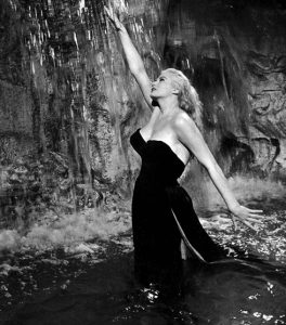 Anita in Trevi Fountain in a scene from La Dolce Vita (1961)