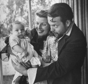 With Orson Welles and daughter Rebecca