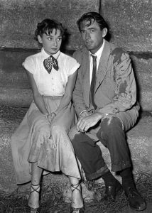 During filming of Roman Holiday