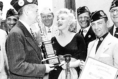 Certificate & trophy awarded Marilyn from  the American Legion June 19, 1954
