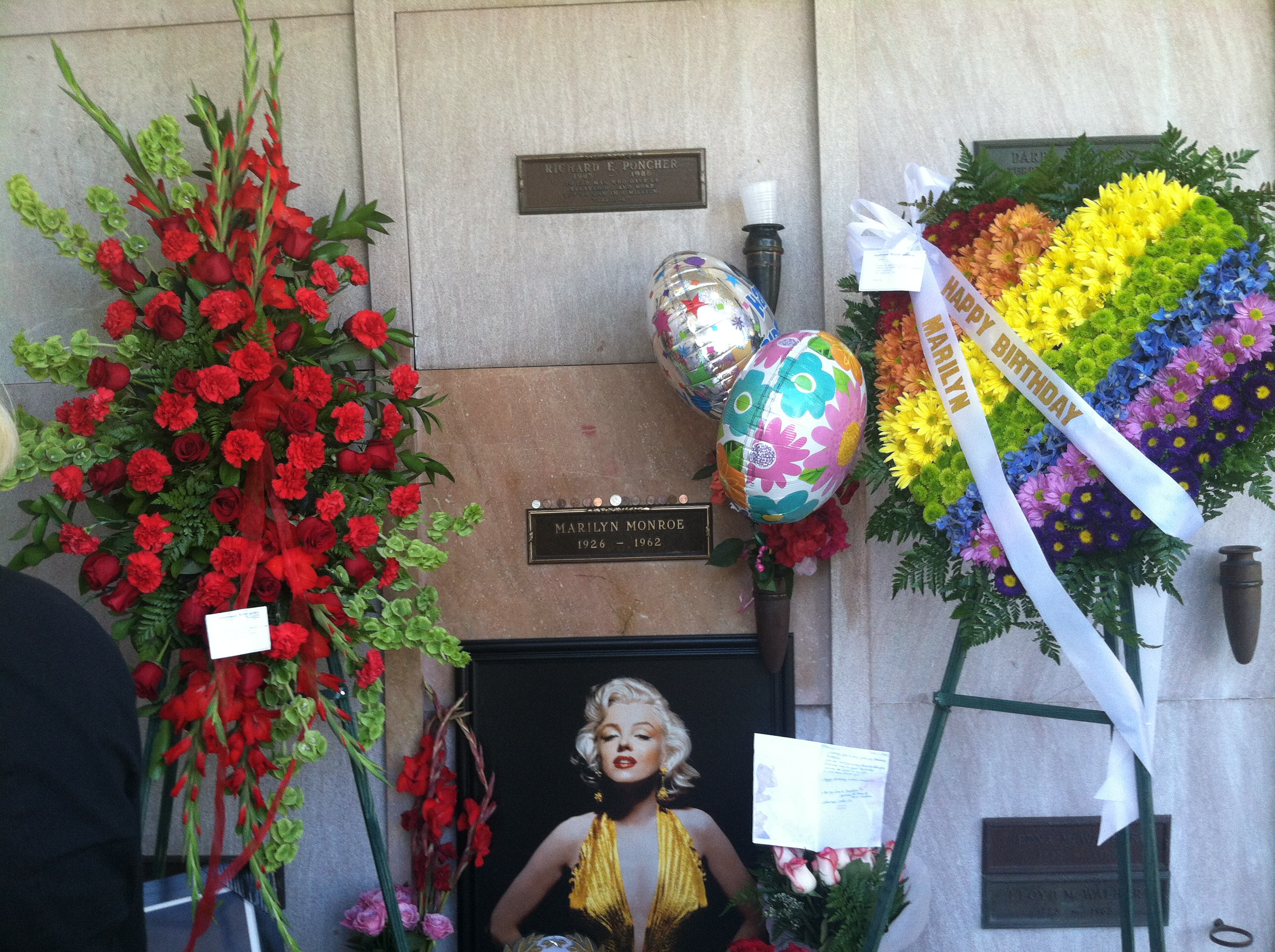 Birthday Flowers 2012 Immortal Marilyn